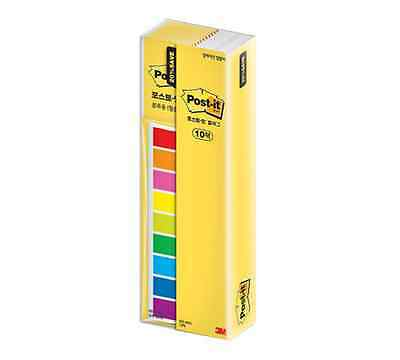 3M Post-it Flag Office Value Pack 683-9KN 10 Bookmark Point Sticky 900 flags