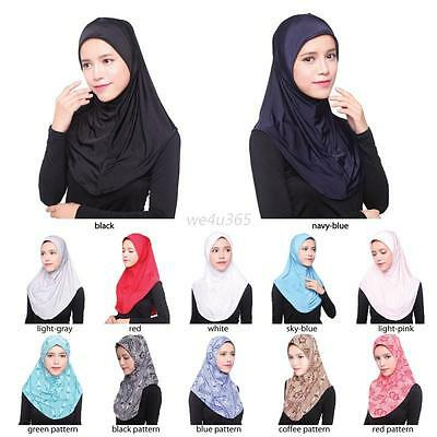 Fashion Muslim Women Islamic Hijab Inner Cap Wrap Headwear Shawl Long Soft Scarf