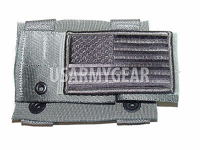 New Army ACU MOLLE II Foliage Green K-Bar Adapter Utility Pouch + US Flag