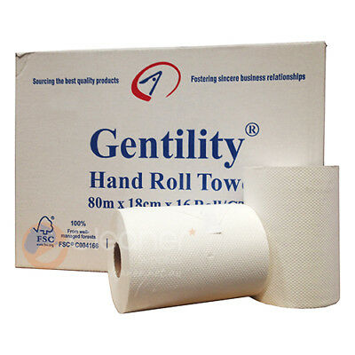 Hand Roll Towel Paper 1ply 80M x 18CM 16roll/ctn Industrial Roll / Kitchen Roll
