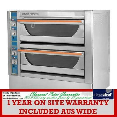 Fed Commercial Infrared High Performance Double Deck Oven Pizza Baker Bread Gu-4