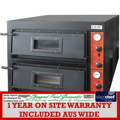 Fed Commercial Germany's Black Panther Pizza Double Deck Oven Ep-1-Deep Model