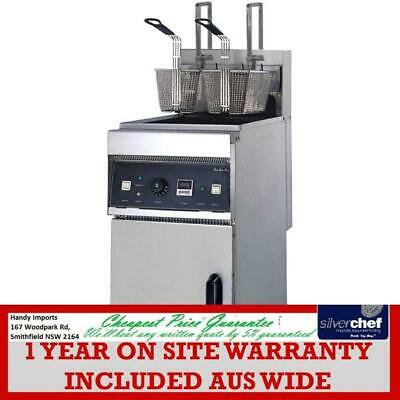 Fed Commercial Auto-Lift Electric Fryer With Cold Zone Chips Chicken Fish Ef-28S
