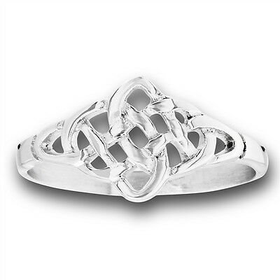 Stainless Steel Unique Celtic Mesh Knotwork Design Ring Jewelry Size 5-10