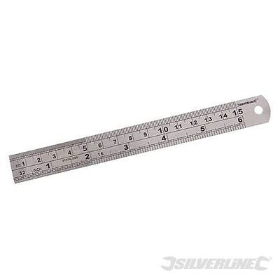 "Silverline 6""/150mm Stainless Steel Ruler MT65"