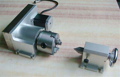 CNC Rotation Rotary Axis 4th Axis F Style K11 3 Jaw Lathe Chuck 80mm For Router