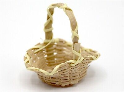 1:12 Scale Open Woven Bamboo Basket Tumdee Dolls House Accessory Flower Do