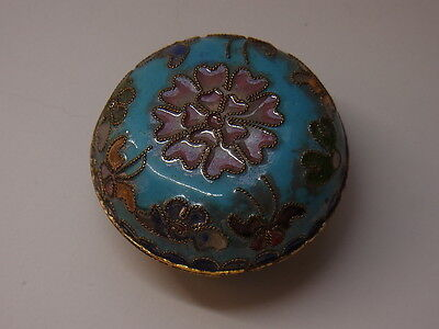 Alte Pillendose Schmuckdose Cloisonne Emaill Pillbox Box Dose Floral Schatulle 2
