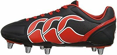 Canterbury Stampede Club 8 Stud - Mens Rugby Boots - E22323 989-Black -Brand New