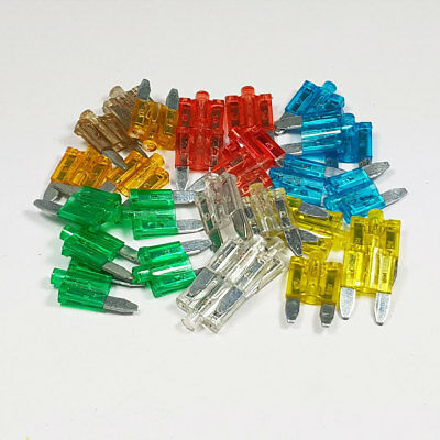30 Piece Mini Glow Blow Blade Fuse Assorted Kit Mixed Car Auto Amp Amps A