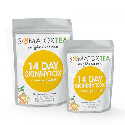 Somatox Skinnytox Morning & Evening Tea - 14 Days & 28 Days