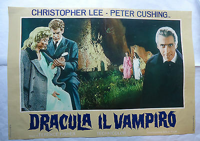 CHRISTOPHER LEE/HORROR OF DRACULA/italy poster