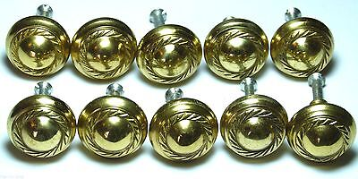 Lot Of 10X Antique Styled Rope Effect Brass Chest/drawer/door Handle Knobs