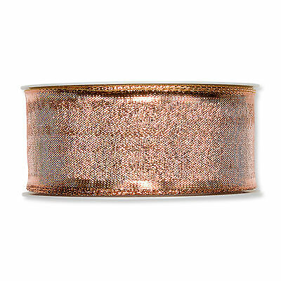 Ribbon Lurex Metallic Copper 40mm on a 25m Roll