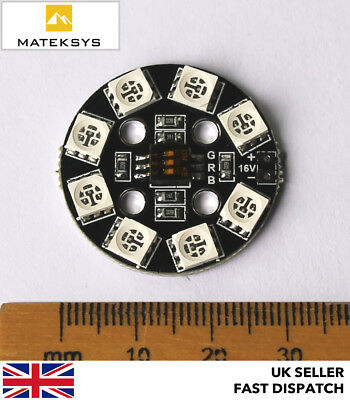 Matek RGB LED Circle Board 7 colors X8 16V For FPV RC Multicopter Quadcopter