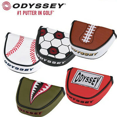 ORIGINAL 2016 ODYSSEY MALLET BALL PUTTER COVER/HEADCOVER Various Styles Colours