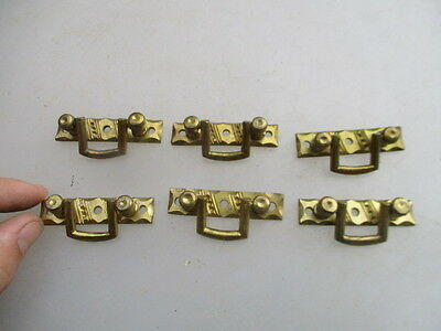 Old Brass Handles Chest of Drawers Pulls x6 Small Drop Handles Antique Style