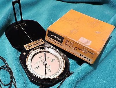 Dietzgen Forestry or Military Compass with Lanyard 6805S