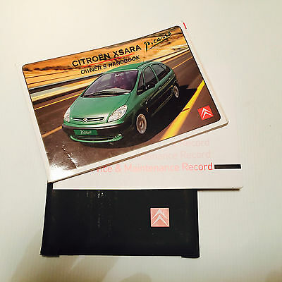 Citroen Xsara Picasso Handbook Service Book & Wallet Pack  2001 To 2007