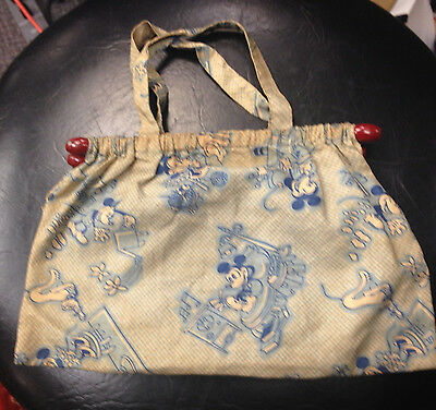Early 1930S Mickey Mouse Cloth Purse