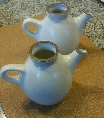 Matched Pair Of Heath Stoneware Teapots