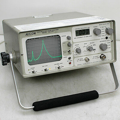 AVCOM PSA-37D Portable 4.2GHz Spectrum Analyzer for PARTS Powers On Tunes Signal