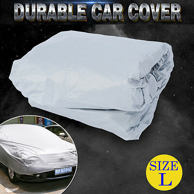 L Universal Large Full Size Car Cover Sun Resistant UV Protection Anti-Scratch