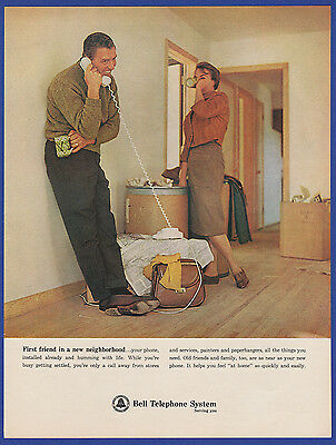 Vintage 1964 BELL TELEPHONE SYSTEM RARE Print Ad 1960's