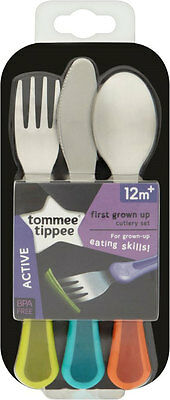 Tommee Tippee Explora First Grown Up Cutlery Set 12mth+ FREE UK DELIVERY