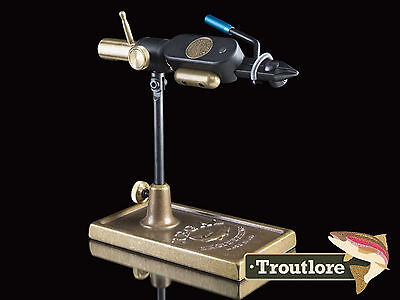 Regal Revolution Vise Bronze Base Traditional Jaws - Usa Made New Fly Tying Tool
