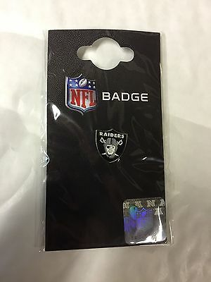Brand New Sealed Official NFL Oakland Raiders Team Logo Metal Pin Badge