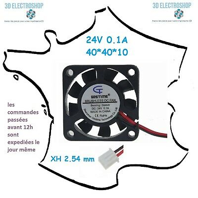 ventilateur fan brushless 40x40x10 24v dc 0.1A 3d print cnc