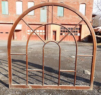 Large Wide Antique Gothic Arched Dome Top Palladian Window Old Vintage 5265-15