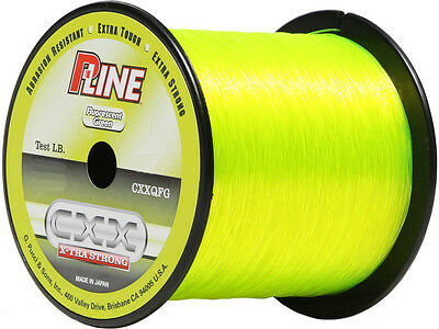 P-LINE CXX FLUORESCENT GREEN X-TRA STRONG FISHING LINE 370-600 YARDS select test