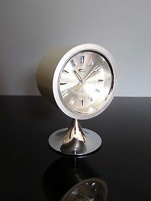 Fashion clock alarm chrome tulip reveil tulipe space age 70's vintage