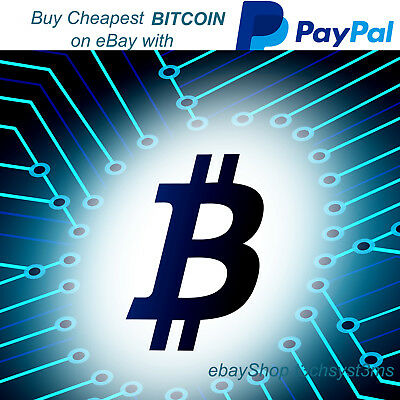 Buy Bitcoin for £5.85 on eBay with paypal - Cryptocurrency investment BTC