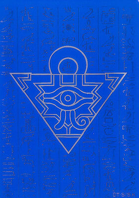 YU-GI-OH Card Deck Protectors Millenium Puzzle Card Sleeves Blue 100 Pieces