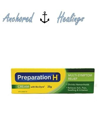 Preparation H Cream with Bio Dyne Multi-Symptom Relief 25g Exp. 01/2019