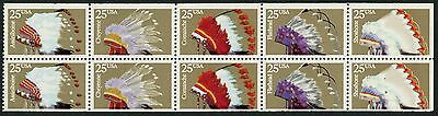 """#2505b """"INDIAN HEADDRESSES"""" WITH BLACK OMITTED MAJOR ERROR EXT RARE WLM1892"""