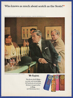 Vintage 1965 HAIG & HAIG Scotch Whisky Alcohol Restaurant Decor Print Ad 60's