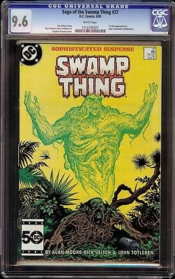 Swamp Thing # 37 CGC 9.6 White (DC, 1985) 1st appearance John Constantine
