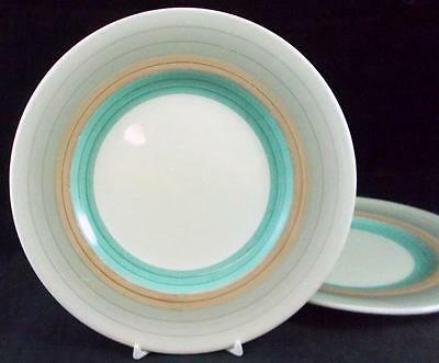 Susie Cooper WEDDING RING 2 Salad Plates Vintage E698 GOOD CONDITION
