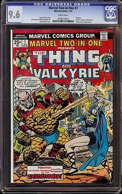 Marvel Two In One # 7 CGC 9.6 White (Marvel, 1975) Valkyrie appearance