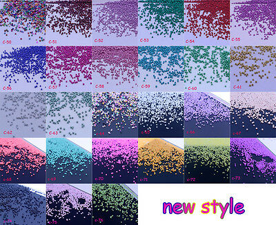 27 Colors 24g Glass Micro Beads No Hole 0.6-0.8mm Nail Art Caviar Marbles beads