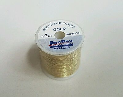 1 Spools of Pacific Bay (Gold) Size A Metallic Thread 100YDS Rodbuilding