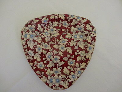 Lord Nelson Chintz, Royal Brocade, Triangular Plate, #2D
