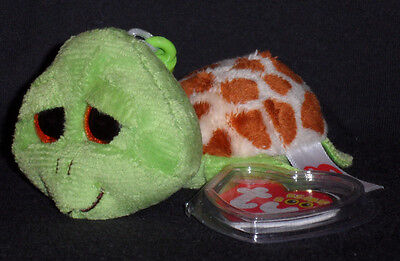TY BEANIE BOOS - ZIPPY the TURTLE KEY CLIP - MINT with MINT TAGS