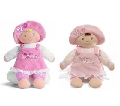 My First Dolly Doll by Gund - Soft Plush Baby Safe Girls Toy Gift New 33cm