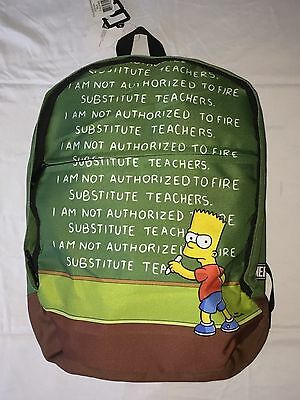NEW NEFF x The Simpsons Bart Chalkboard Book Bag School Backpack NEW WITH TAGS