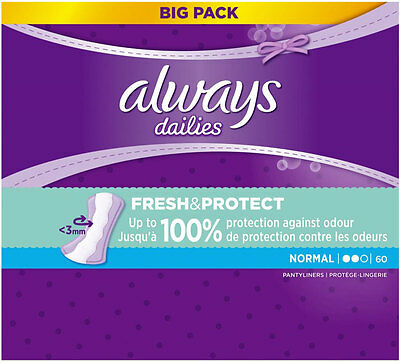 Always Dailies Pantyliners - Normal (60)  FREE UK DELIVERY